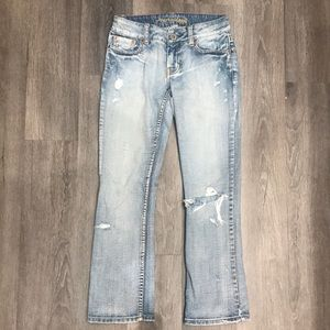 American Eagle Mid Rise Hipster Crop
